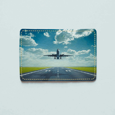 "Обложка на пластиковый ID-паспорт ""Plane"""