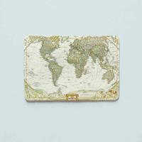 "Обложка на пластиковый ID-паспорт ""Карта мира"""