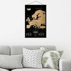 Скретч-карта Европы Travel Map, Black Europe