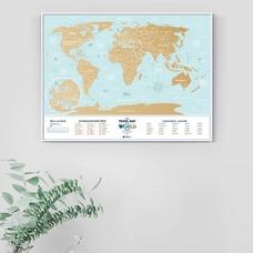 Скретч-карта мира Travel Map, Holiday Lagoon