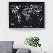 Скретч-карта мира Travel Map, Letters
