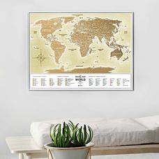 Скретч-карта мира Travel Map, Gold