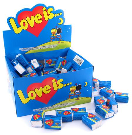 """Жвачки """"Love is"""" банан-клубника"""