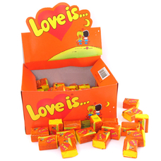 """Жвачки """"Love is"""" апельсин-ананас"""