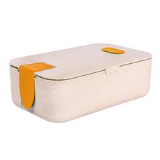 Ланч-бокс Wheat Straw (биопластик), оранжевый