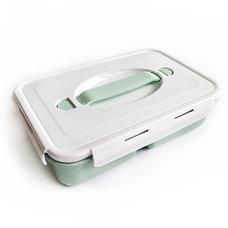 Ланч-бокс Simple (биопластик), зеленый
