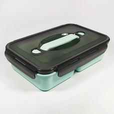 Ланч-бокс Black (биопластик), зеленый