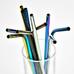 Набор трубочек для напитков (4 шт.), металлик
