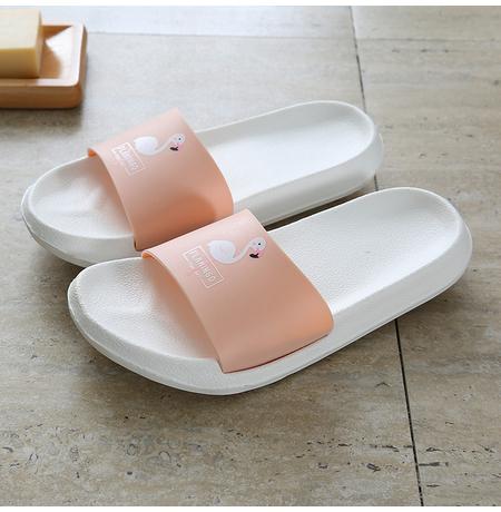 Шлепанцы Peach Flamingo, белые