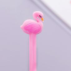 """Ручка гелевая """"Фламинго"""", розовая"""