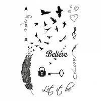 """Сет временных тату """"Believe"""""""