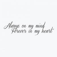 "Временная тату ""Always on my mind"", 10 см"