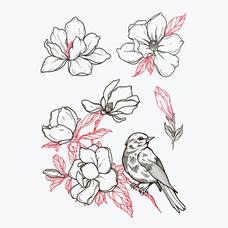 """Сет временных тату """"Magnolia"""""""
