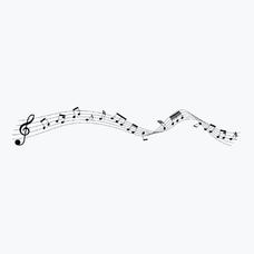 """Временная тату """"Music"""", 17 см"""