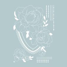 """Временная тату """"Flowering moment """", 20 см"""