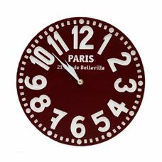 "Настенные часы ""Париж"", бордо"