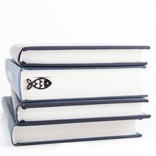 """Закладка для книг """"Черная рыбка"""""""