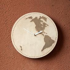 """Деревянные часы """"Земля"""""""