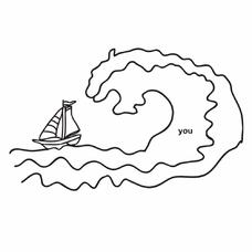 """Временная тату """"Wave"""", 8 см"""