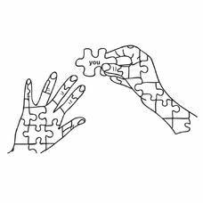 """Временная тату """"Puzzle"""", 12 см"""