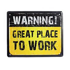 "Металлическая табличка ""Great place to work"""
