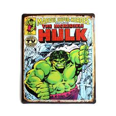 """Металлическая табличка """"Marvel. Hulk"""""""