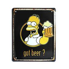 """Металлическая табличка """"Got beer?"""""""