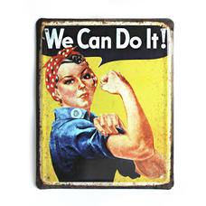 """Металлическая табличка """"We Can Do It!"""""""