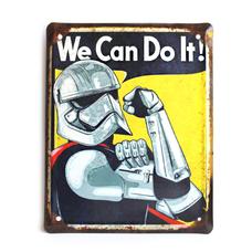 "Металлическая табличка ""We Can Do It! (штурмовик)"""