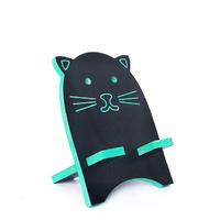 """Подставка для смартфона """"Чёрный котик"""", бирюзовый"""