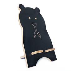 """Подставка для смартфона """"Чёрный медведь"""", натуральный"""