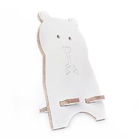 """Подставка для смартфона """"Белый медведь"""", натуральный"""