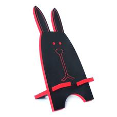 "Подставка для смартфона ""Чёрный заяц"", красный"