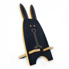 """Подставка для смартфона """"Чёрный заяц"""", жёлтый"""