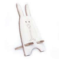 """Подставка для смартфона """"Белый заяц"""", натуральный"""