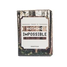 """Обложка на ID-паспорт """"Nothing impossible"""""""