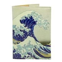 """Обложка на паспорт """"Японская волна"""""""