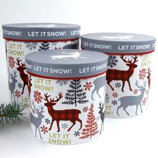 """Подарочная коробка """"let it snow!"""""""