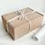 """Подарочная коробка """"Крафтовая"""", с белой тишью"""