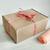 """Подарочная коробка """"Крафтовая"""", с персиковой тишью"""