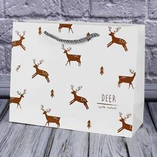 """Подарочный пакет """"Nature. Deer"""" 32х26х11 см"""