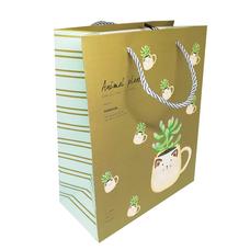 Подарочный пакет Animal plant (dark green) 24.5*19.5*9.5 см