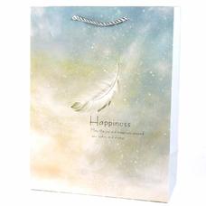 """Подарочный пакет """"Happiness"""" (green) 33x25,5x12 см"""