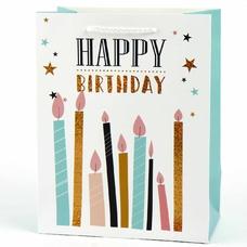 "Подарочный пакет ""Happy Birthday"" (candles) 18x23x10 см"