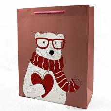 """Подарочный пакет """"Teddy-Bear"""" (pink) 32x26x12 см"""