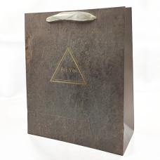 """Подарочный пакет """"For You"""" (brown) 32x26x12 см"""
