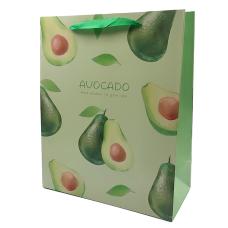 """Подарочный пакет """"Berries"""" (avocado) 32x26x12 см"""
