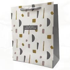 """Подарочный пакет """"Gift to me"""" (gold) 32x26x12 см"""