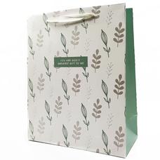 """Подарочный пакет """"Gift to me"""" (mint) 32x26x12 см"""