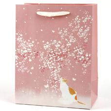 """Подарочный пакет """"The cat"""" (pink) 32x26x12 см"""